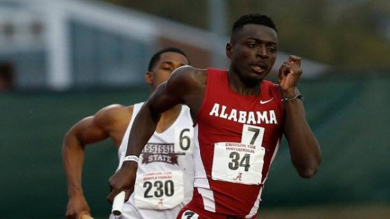 Alex Amankwah (Alabama) ran a personal best 1.45.9 in the 800m to rank #9 in the world, and become Ghana's first world championship qualifier of 2015.