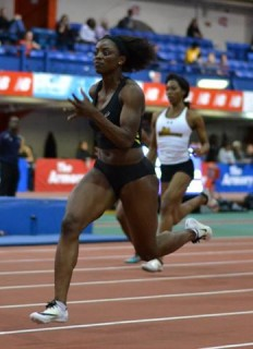 What a difference a week makes! Flings Owusu-Agyapong opened her season in Gainesville, Florida last week, and came close to the Olympic qualifying mark, missing it by just six-hundredths of one second. Eight days later, she returned to Florida--this time