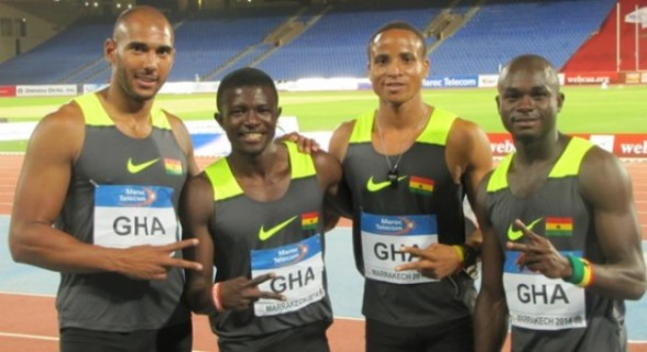 Ghana's men's 4x400m relay team broke a 23-year old national record as they won a dramatic gold medal in a time of 3:04.72 at the Warri Relays, Nigeria on Friday,